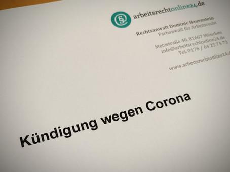 Kündigung wegen Corona