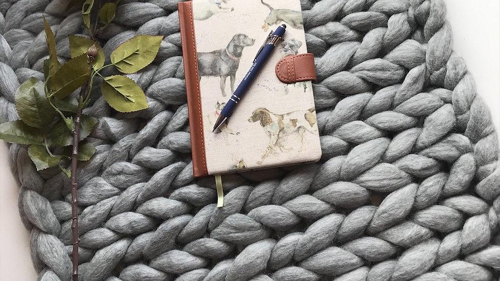 Grey Corriedale lap blanket