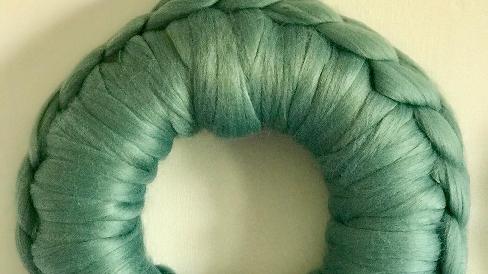 'Teal' woollen wreath