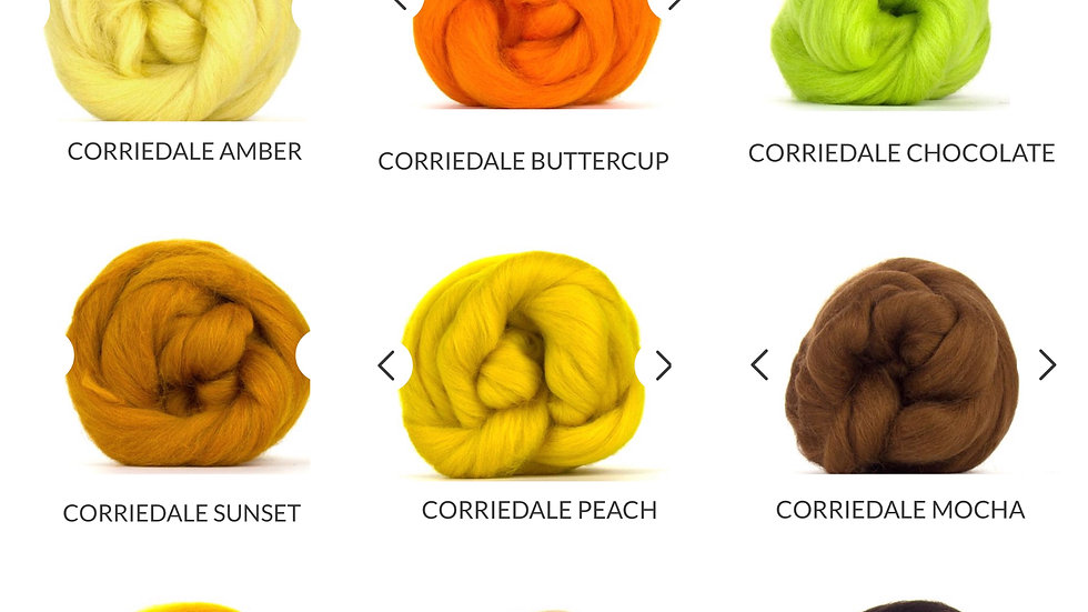 yellow/oranges/brown corriedale blankets