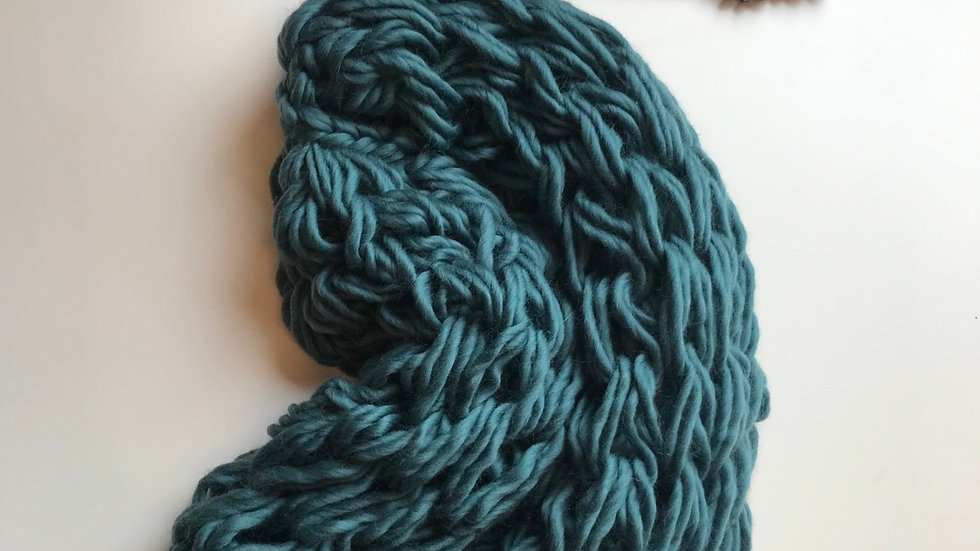 Merino double arm knitted snood