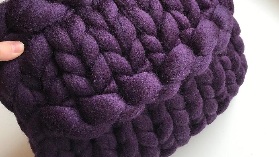 Auberguine Corriedale cushion
