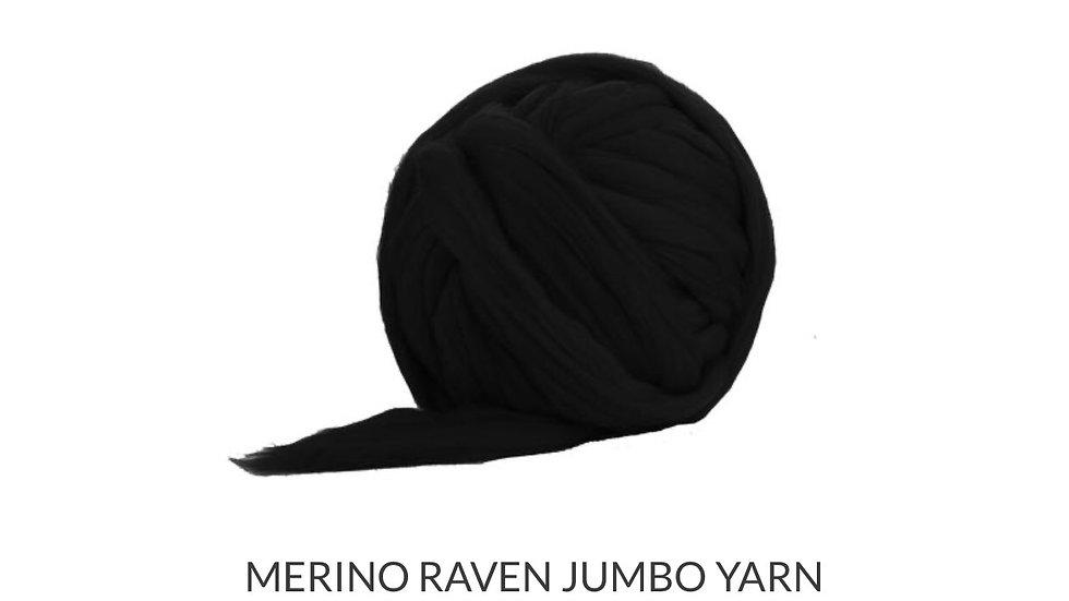 Black merino blanket