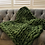 Thumbnail: Lap blanket in olive merino wool
