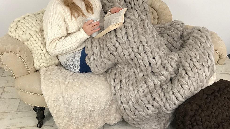 Natural brown shetland wool rug
