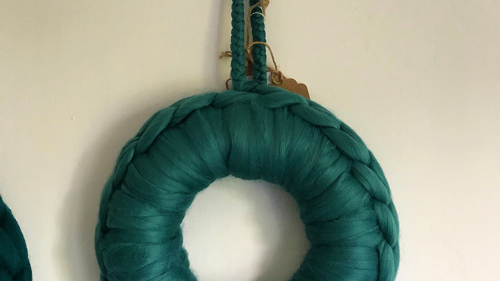 Duck egg blue wreath