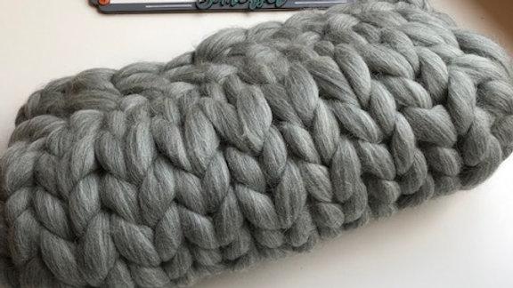 Grey Corriedale cushion