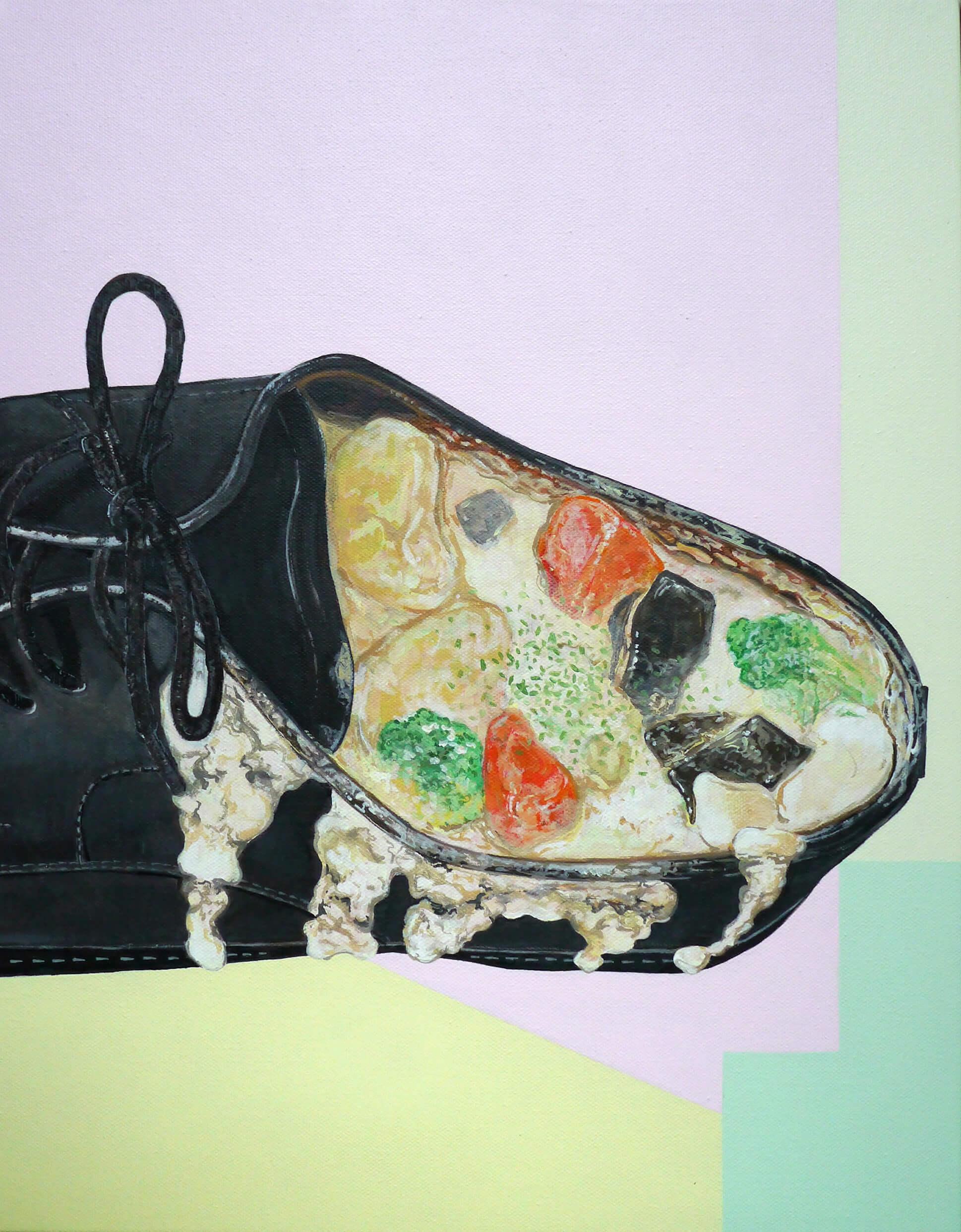 レザー料理(革靴のクリームシチュー)