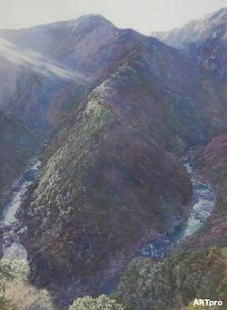駆ける渓谷、差し込む光