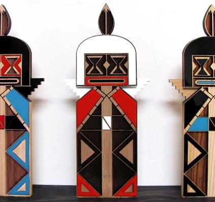 Fractal Kachina 1 Acrylic Series