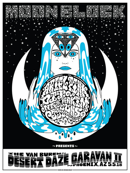 Moon Block Rock Poster
