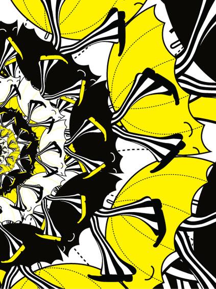 Umbrella Walker Illustration Spread