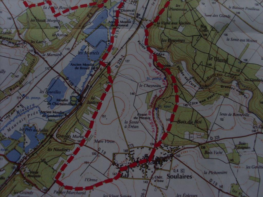 Plan des Chemins de randonnées