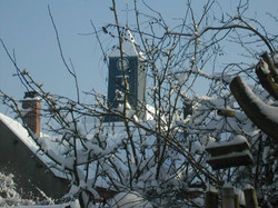 Eglise sous la neige.(photo wm)