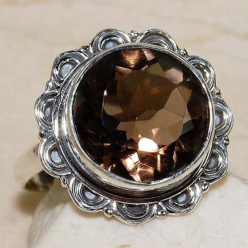 #275 – 10 carat Smoky Topaz & 925 SolidSterlingSilver Ring