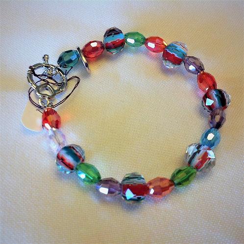 Item #508– UniqueMulti-coloredCrystal Beads -Bracelet