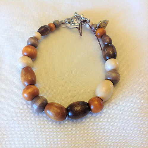 Item #1177 -Multi-colored and sixed wood beads- Bracelet