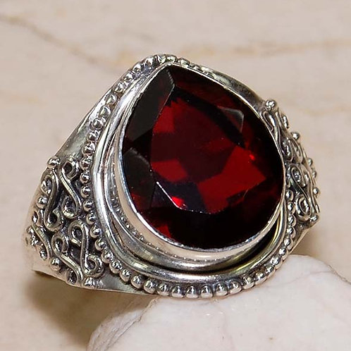 #285 – 8 carat Cherry Quartz & 925 Solid SterlingSilverring
