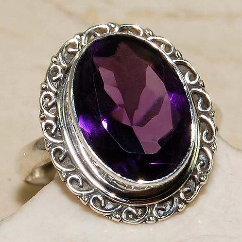 #267 – 10 carat Amethyst & 925 Solid SterlingSilverring