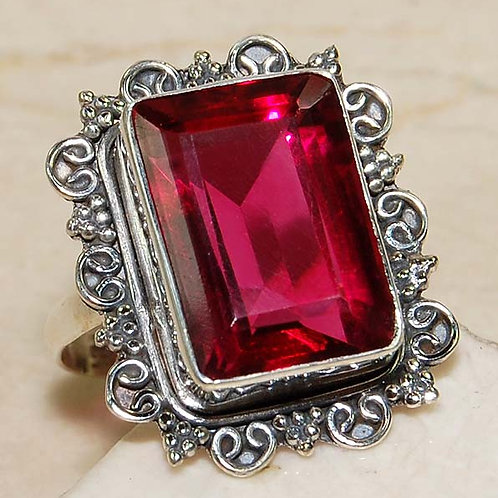#273 – 14 Carat Red Ruby 925 Solid SterlingSilverRing