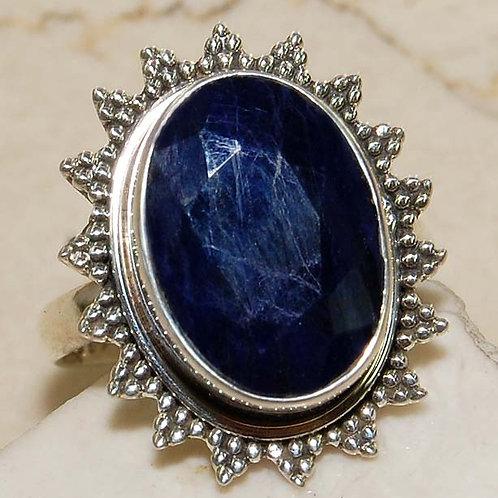 #308 – 10 Carat Sapphire & 925 SolidSterlingSilverRing