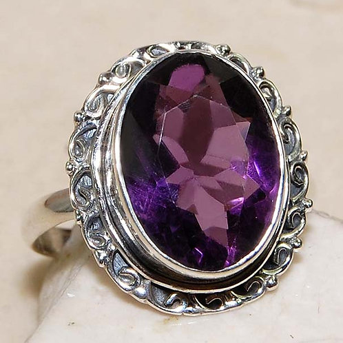 #260 – 10 carat Amethyst & 925 Solid Sterling Silver Ring
