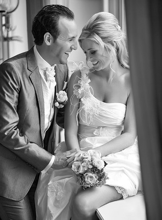 Brautpaar am Lachen