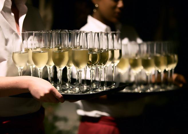 Der Champagner-Empfang