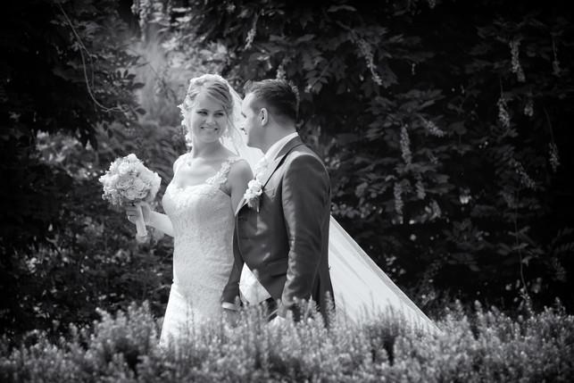 Hochzeitsfotografie in schwarz/weiss