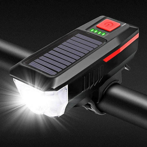 Solar Scooter Headlight/Phone Charger/Horn