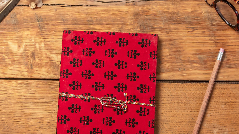 Bagru Diary A5 (recycled handmade paper)