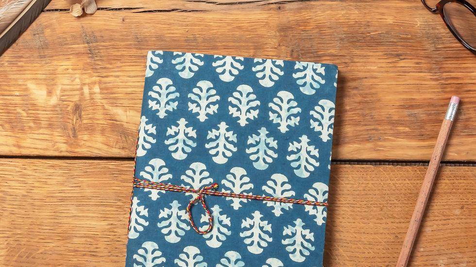 Indigo Dabu Diary A5 (recycled handmade paper)