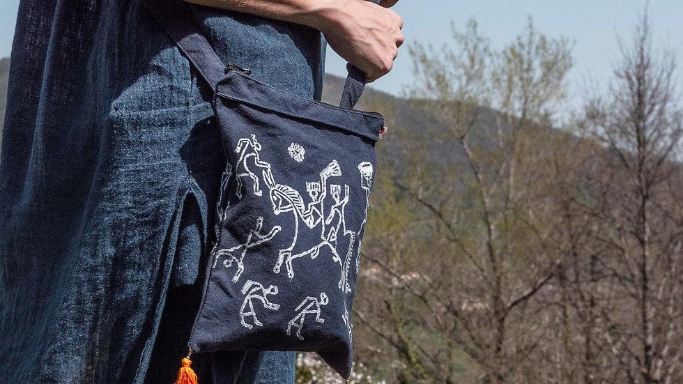 Indigo Warli shoulder bag