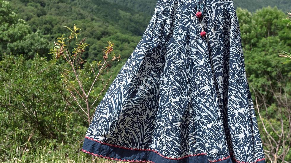 Indigo Sadhna-Dabu Skirt