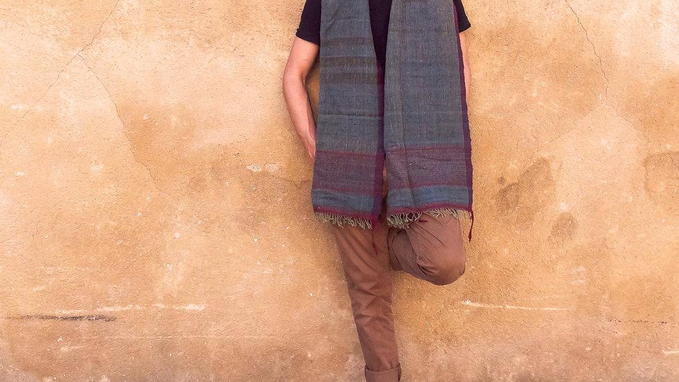 Indigo-Lac Kutchi Sheep Wool Stole