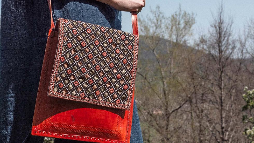 Leather Jat shoulder bag