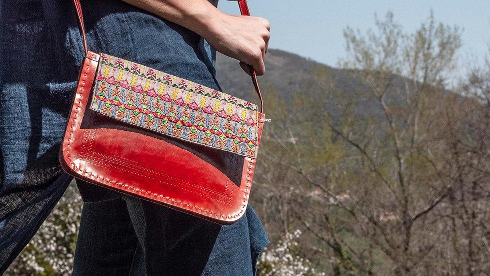 Leather Silk-Suf shoulder bag
