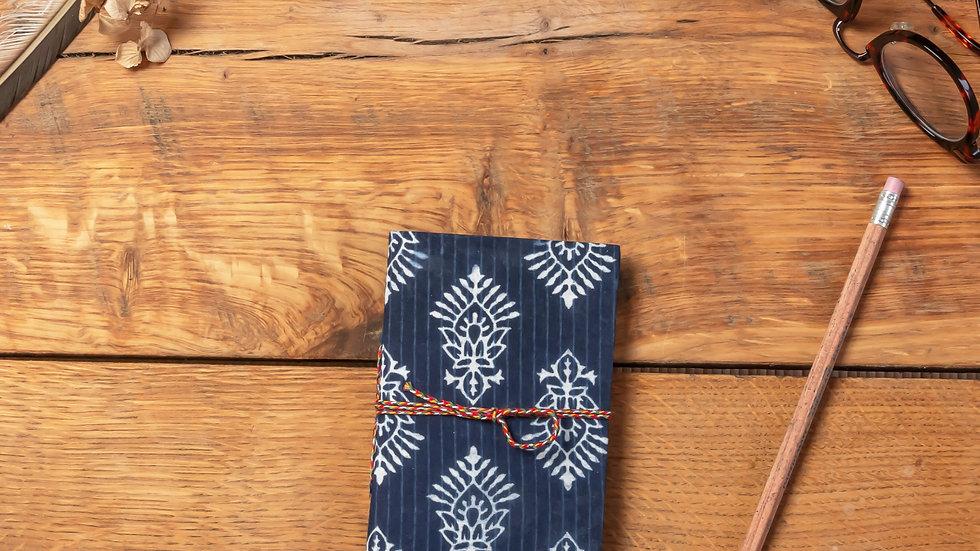 Indigo Dabu Mini Diary (recycled handmade paper)