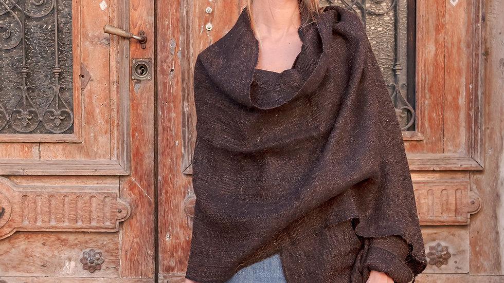 Raika Camel Wool Shawl