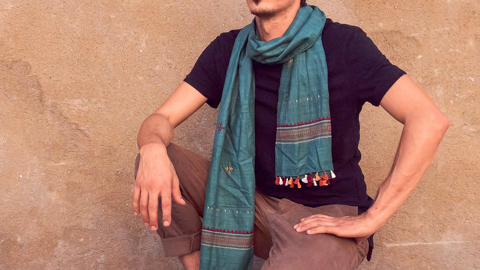 Silk Khadi-Suf stole