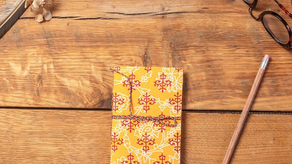 Bagru Mini Diary (recycled handmade paper)