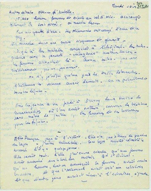 Ecriture manuscrite 21 7 1