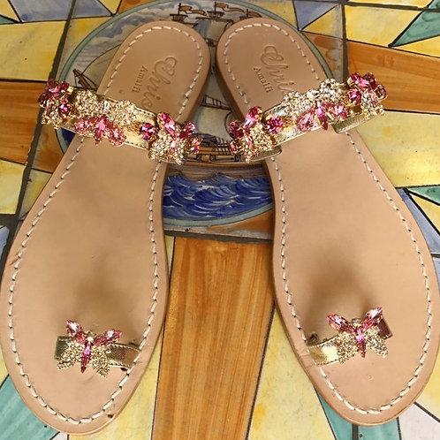 Sandalo gioiello mod. FARFALLA fascia dito