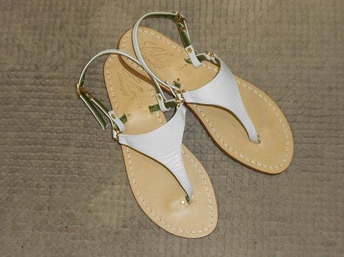 Sandalo triangolare in pelle