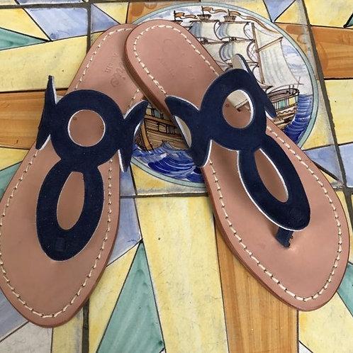 Sandalo Vintage in camoscio