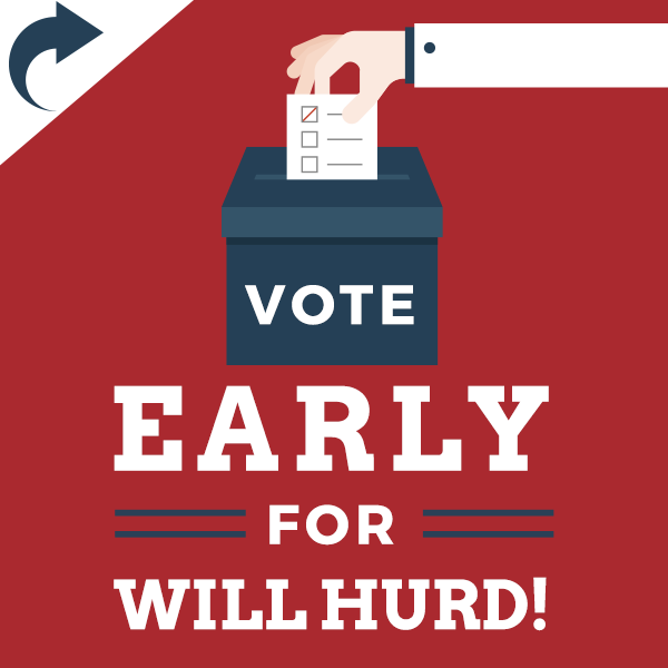 Will Hurd Voting Graphic