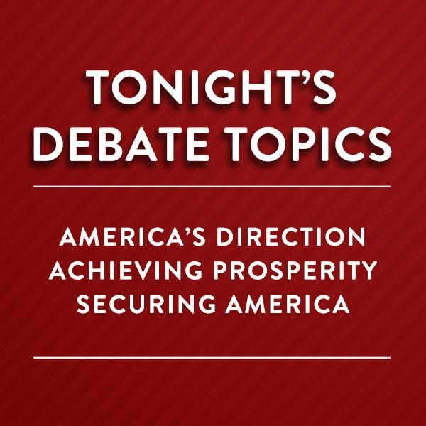 Debate Announcement