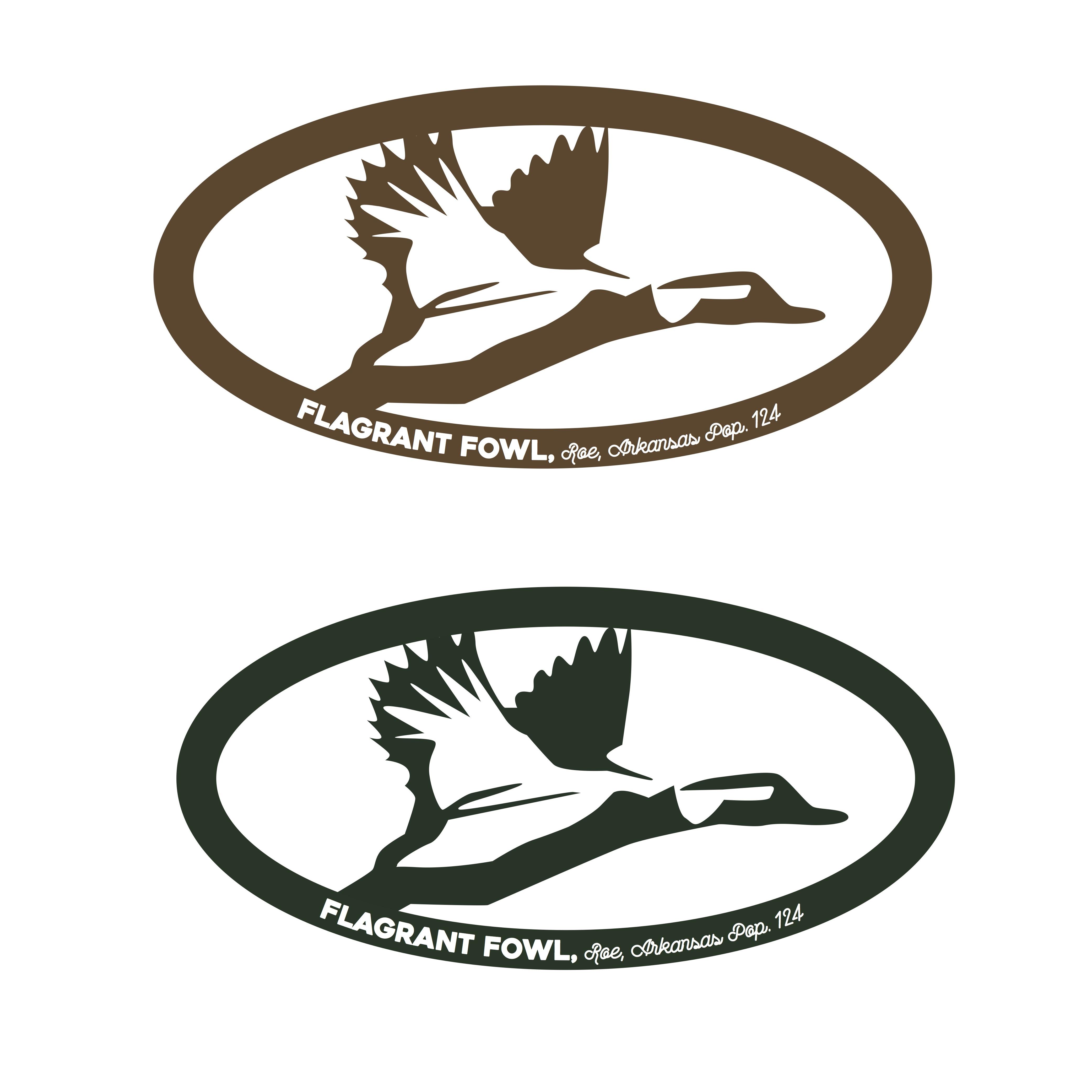 Flagrant Fowl Lodge Logo Options