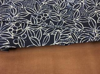 日本伝統の和をイメージしたオーダーカーテンを製作中です。
