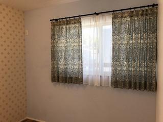 ウィリアムモリスのブレアラビットでオーダーカーテンをお仕立てしました。